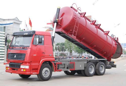 污水处理厂拉污泥15吨污泥清运车价格